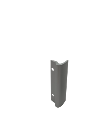 Balkontürziehgriff Alu F1 silber
