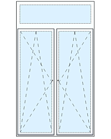 2 tlg. Balkontüre mit Oberlicht Fenster Fenster & Türen rolf-fensterbau.de