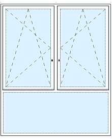 3tlg. Fenster