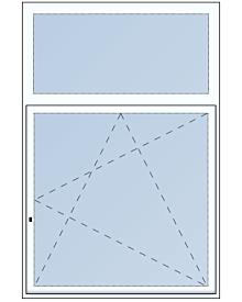 1 tlg. Fenster mit Ober-oder Unterlicht
