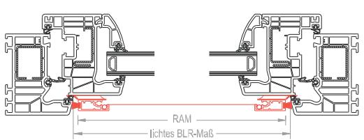 Insektenschutzgitter technische Zeichnung